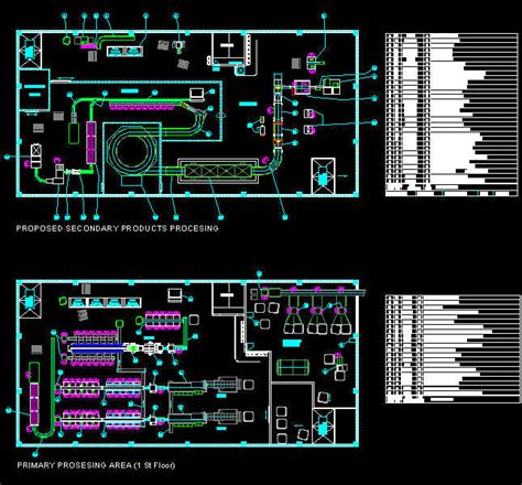 Factory Layout Design Autocad | cad building template factory fish processing plant