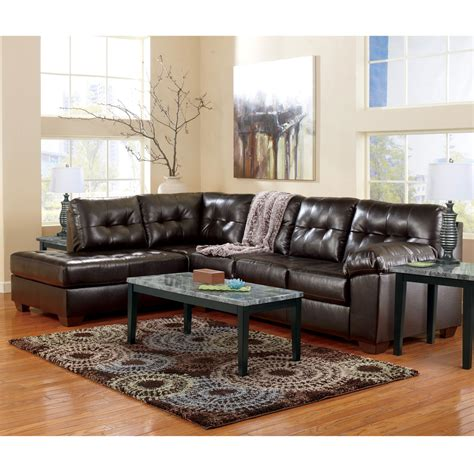 2 pc sectional sofa chaise signature design by ashley alliston durablend 2 pc