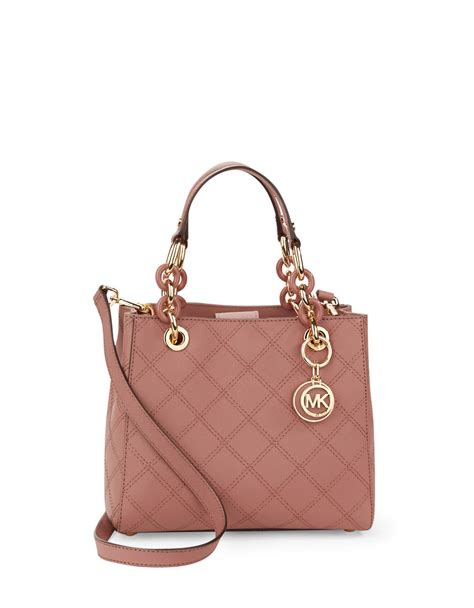 Small Satchel by Michael Michael Kors Cynthia Small Leather Satchel Bag In