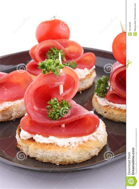 m and s canapes canapes with cheese and bacon stock image image of snack