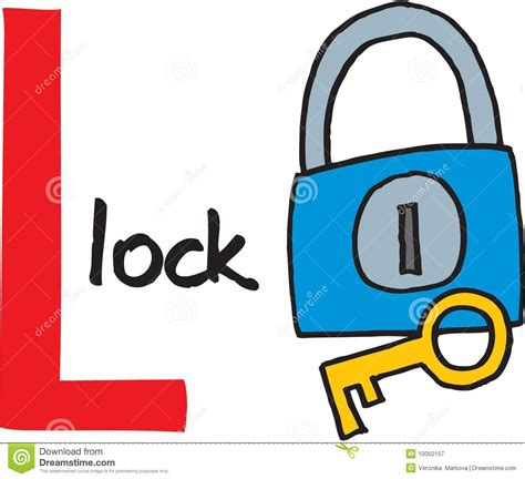 L For by Letter L Lock Royalty Free Stock Photography Image