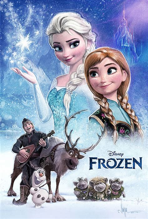 frozen film poster elsa and anna frozen poster by paul shipper