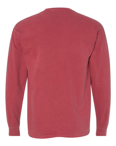 comfort colors long sleeve pocket t shirts comfort colors garment dyed ringspun long sleeve pocket