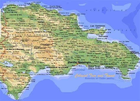 mapa de republica dominicana rep 250 blica dominicana mapa geogr 225 fico