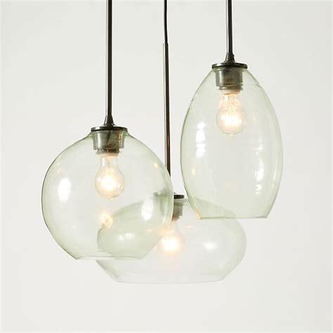 west elm ceiling light glass triplet chandelier west elm chandeliers