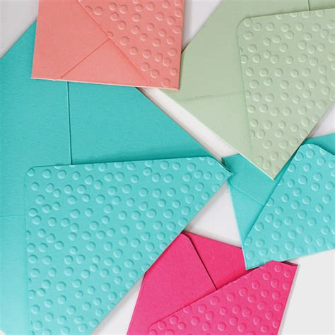 Embossed Craft Paper - how to make embossed envelopes scissors paper wok