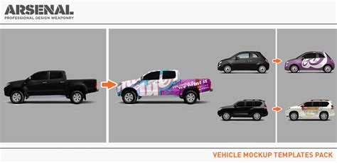 Introducing The Vehicle Mockup Templates Pack Vehicle Wrap Templates Photoshop