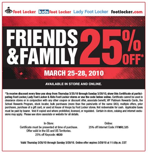 Shop Hm Friends And Family This Weekend foot locker friends and family discount this weekend only