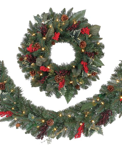 austrian spruce garden berry wreaths and garlands tree