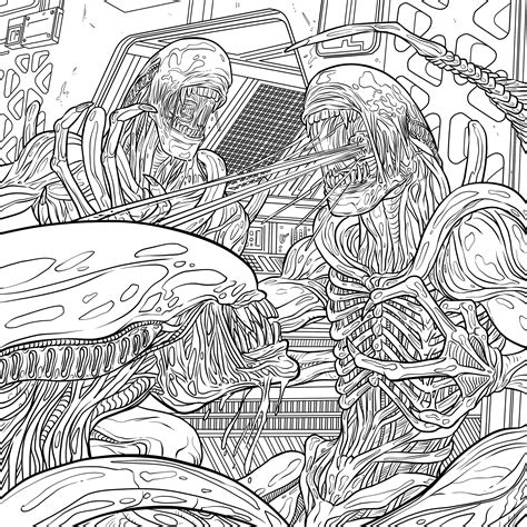 Download Four Exclusive Alien Coloring Book Pages Where To Buy Horror Coloring Books