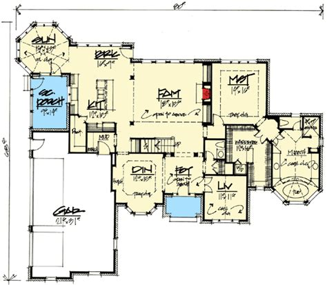 octagonal sunroom house plan hunters octagonal sun room 5697tr 1st floor master suite