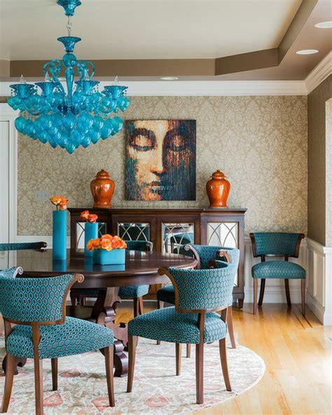 design stühle günstig blau esszimmer design