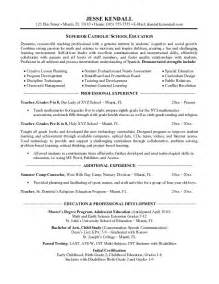Elementary Sle Resume by Resume For Teachers Sales Lewesmr