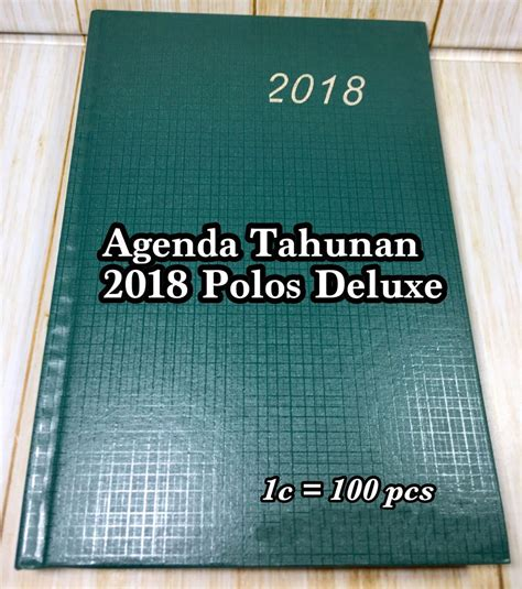 Memo Pembatas Buku Hati Pink Murah jual buku catatan agenda tahunan 2018 polos deluxe harga murah malang oleh cv dadi sejahtera