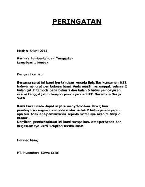 contoh surat peringatan contoh surat the knownledge