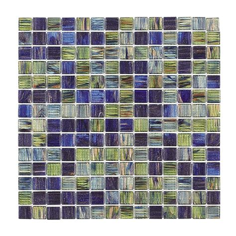 jeffrey court vineyard 12 in x 12 in x 4 mm glass mosaic