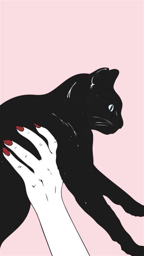 Kertas Kado Black Cat Kertas Kado Hitam Kucing http v erbografias wallpaper lockscreen papel de parede plano de fundo