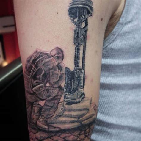 fallen soldier tattoo fallen soldier tribute veteran ink