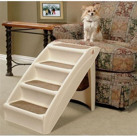 pet steps for bed dog cat pet folding 4 step stairs carpet bed couch