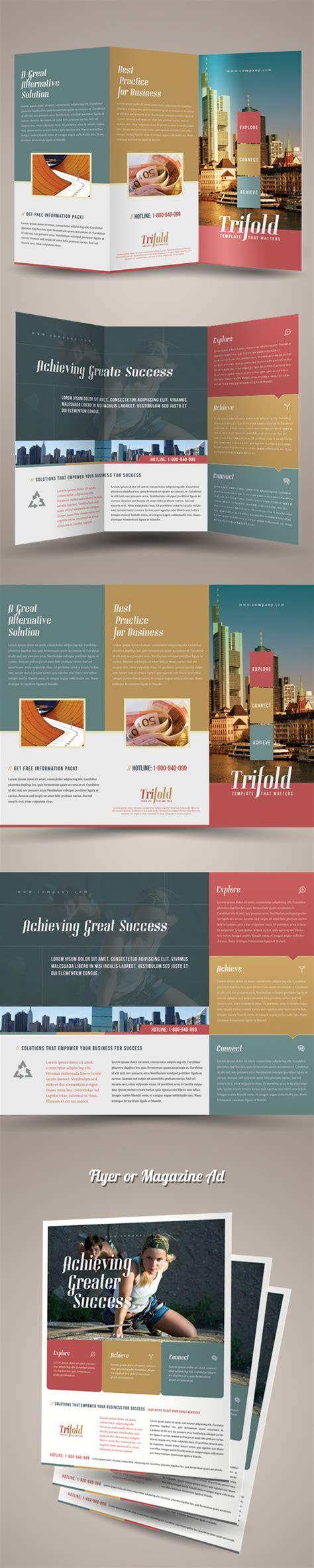 Flyer Design On Behance | trifold brochure template on behance
