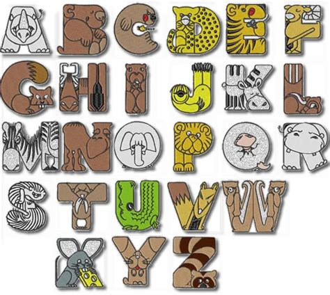 printable animal shaped letters animal alphabet machine embroidery designs