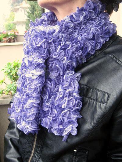 sciarpa volant sciarpa volant lilla donna abbigliamento di vamilla
