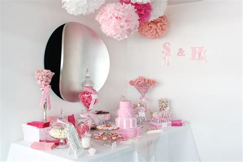 uptown soir 233 e sugar coated pink and white candy buffet