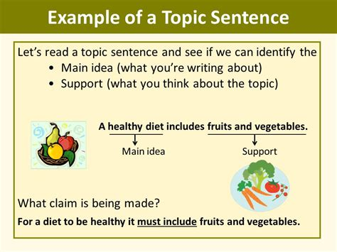 A Topic by Writing Topic Sentences Ppt