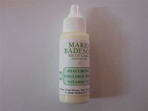 Vitamin Emulsion mario badescu hyaluronic emulsion with vitamin c review