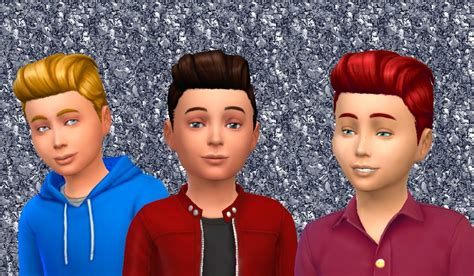 pompadour hair for kids the sims 4 my stuff pompadour retro for boys hairstyle