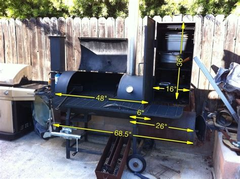 my custom flow smoker hybrid with new braunsville