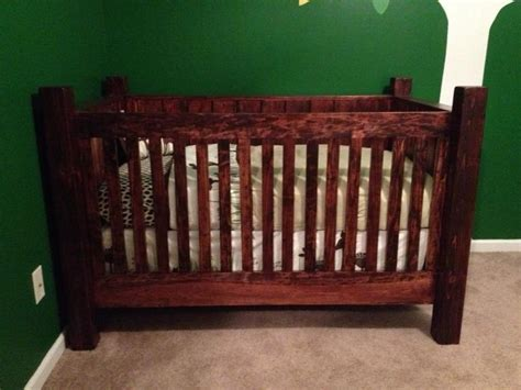 rustic baby bed rustic wood crib things i ve made pinterest rustic