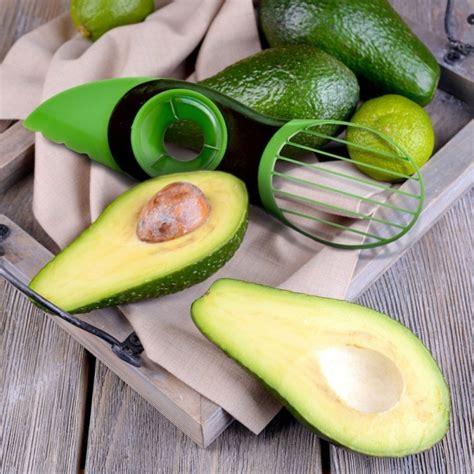 3 In 1 Avocado Slicer manley 3 in 1 avocado slicer fruit pitter tool green