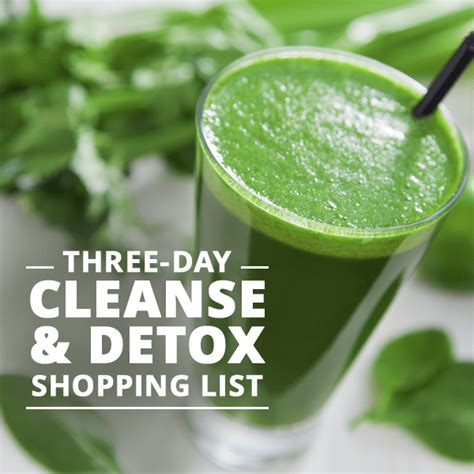 Http Skinnyms Three Day Cleanse Detox by Three Day Cleanse Detox Shopping List