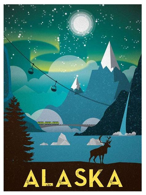design graphics alaska 8 best images about travel posters on pinterest vintage