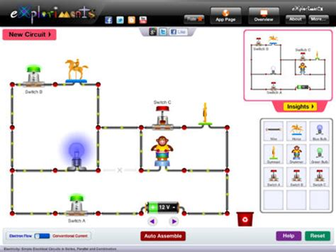electrical circuits app exploriments electricity simple electrical circuits in