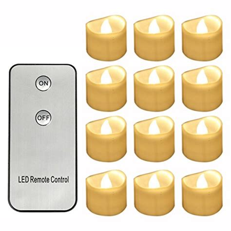 remote control flickering tea lights horeset 12pcs warm white flickering led with remote