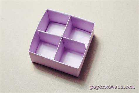 How To Make Paper Dividers - origami masu box divider tutorial paper kawaii
