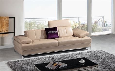 divani casa k8485 modern beige leather sofa set