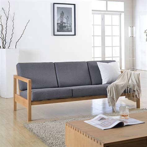 Japanese Style Sofa by Japanese Style Furniture Cotton And Linen Solid Oak Wood