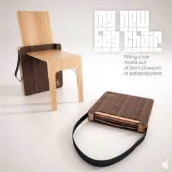 foldable chair design portable folding chair design bag chair by stevan djurovic