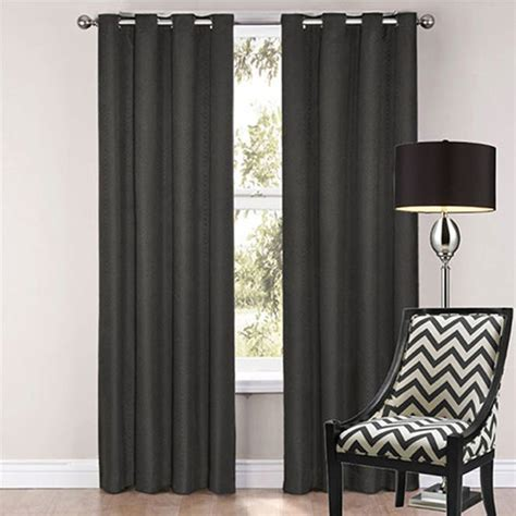 Paintings For Bathrooms by Sorrento Blockout Eyelet Curtains Black Modern