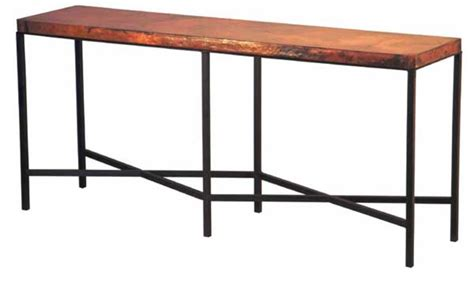 copper top iron console table copper furniture free