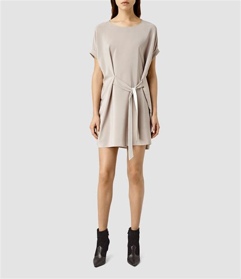 All Saints Tornquist Dresses by Lyst Allsaints Sonny Silk Dress In Gray