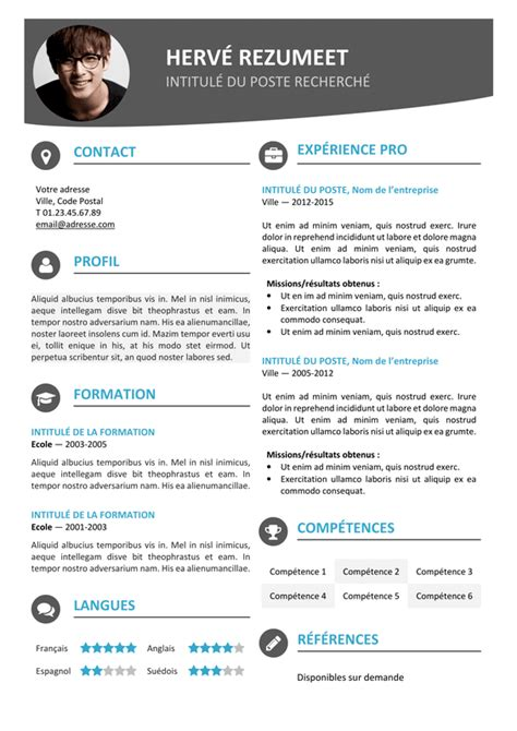 Best Resume Templates In Word by Hongdae Mod 232 Le De Cv Moderne Rezumeet Com