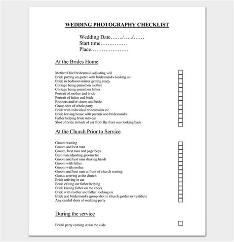 Wedding Usher Checklist by Event To Do List Template 40 Checklists In Word Excel
