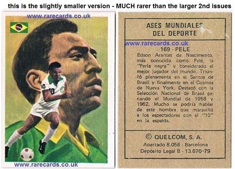 Trade Your Gift Card - rare pele football trade cards and soccer cigarette cards for sale from the former
