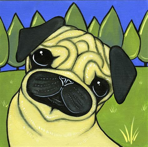 pug paintings for sale pug by leanne wilkes pug painting pug prints and posters for sale
