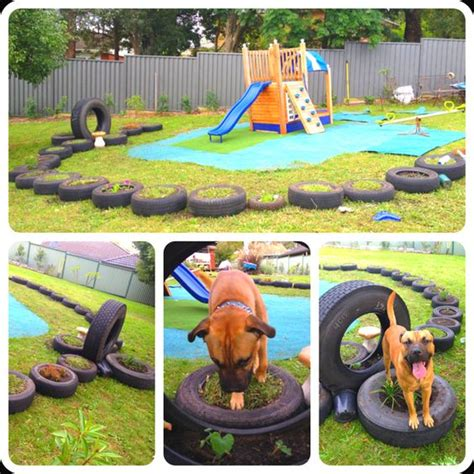dog backyard playground recycled backyard playground for when the kiddies come to