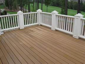 Can you stain composite decking trex decking